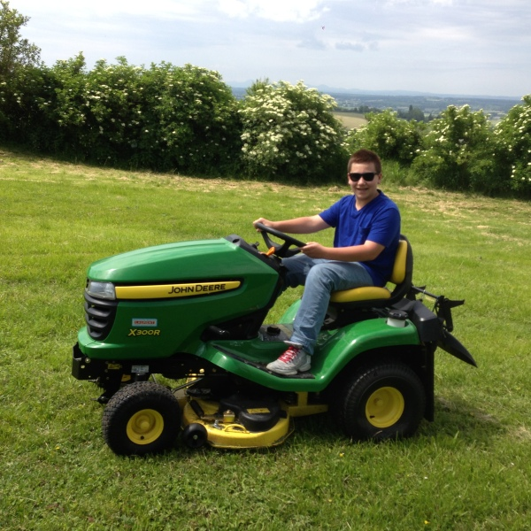 My very first tractor-mower!
