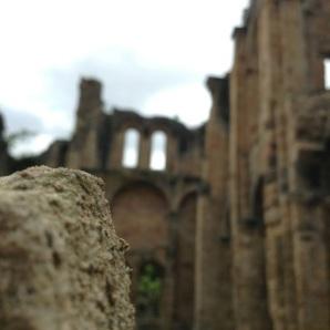 Ruins of a chapel in Alet-Les-Bains