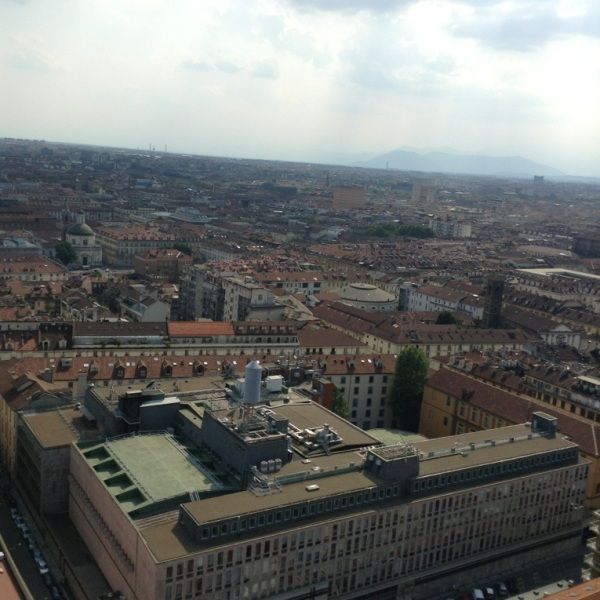 From a view point on top of a museum!