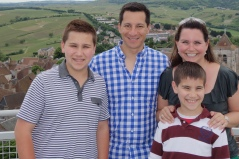 At the top of a tower in Sancerre.