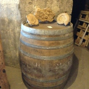 Wine fermenting in a barrel.