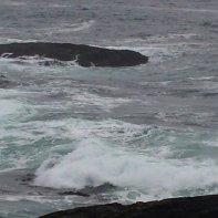 The raging sea.