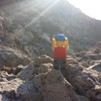 Lego man at the Mars beach.