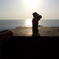 Lego man loves this sunset.