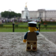 Lego Man at Buckingham palace...