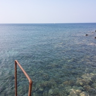 Super clear water.