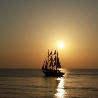 The Santorini sun set.