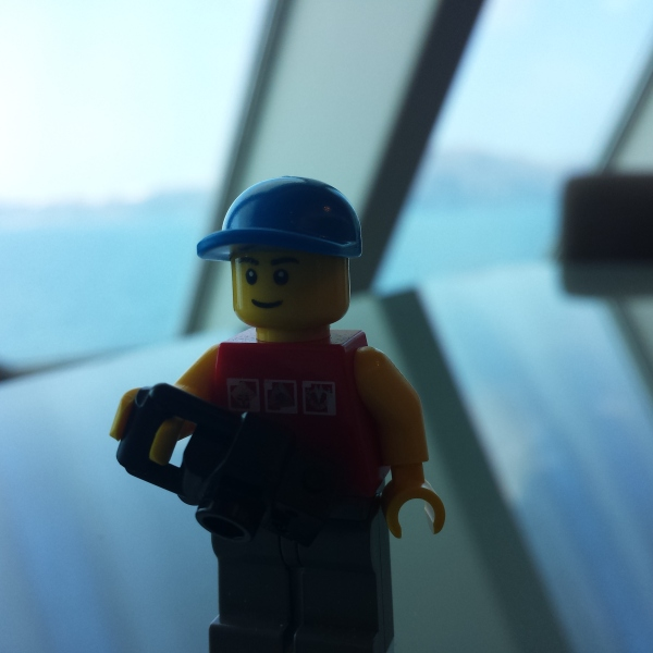 Lego man on the ferry.