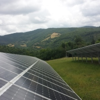 The solar farm in Umbria.