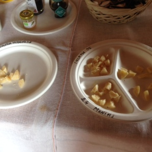 The cheeses we tasted....