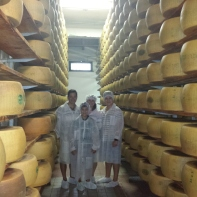 Us in our professional cheese making outfits!